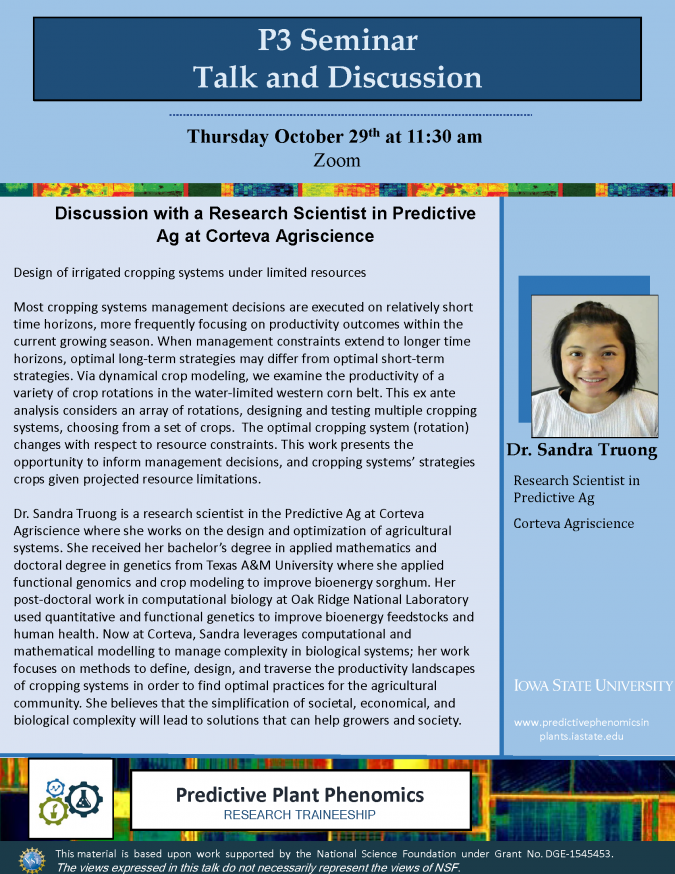 flyer for Sandra Truong's discussion
